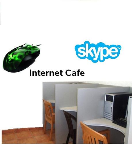 vinilos adhesivos decorativos salas internet - cybercafe