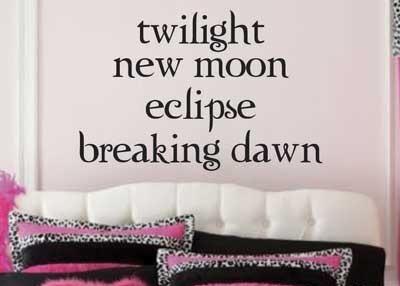 vinilos adhesivos decorativos twilight - crepusculo
