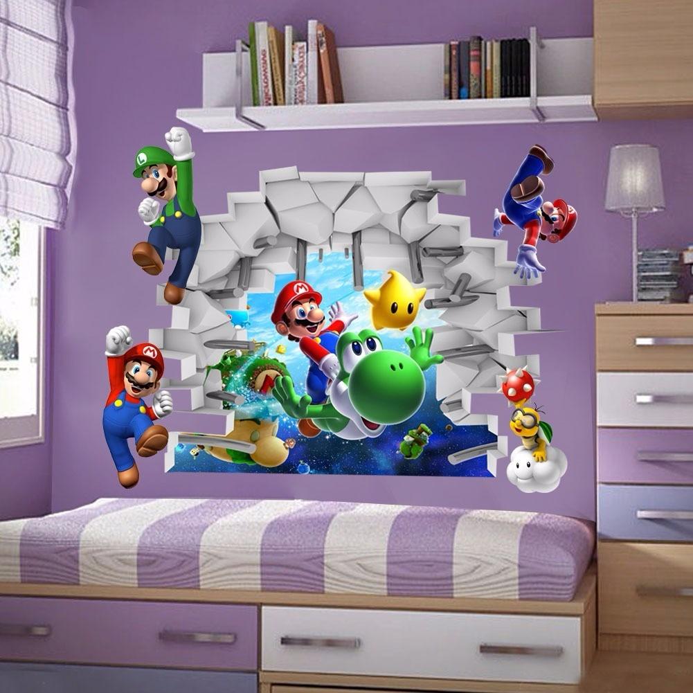 vinilos adhesivos infantiles super mario 3d decorativos en mercado libre. Black Bedroom Furniture Sets. Home Design Ideas