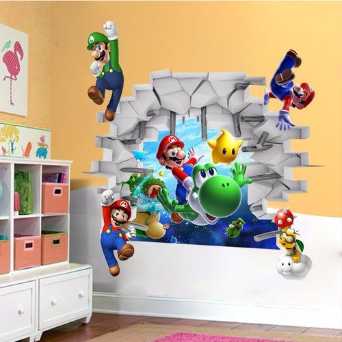 vinilos adhesivos infantiles super mario 3d decorativos