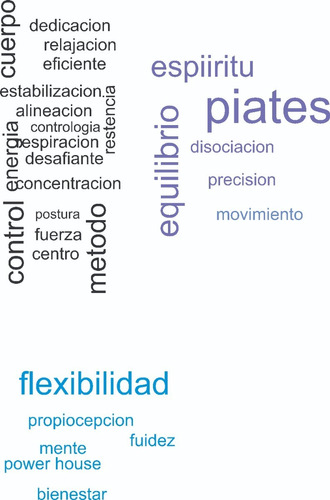 vinilos decorativo frase pilates texto 1x1.8