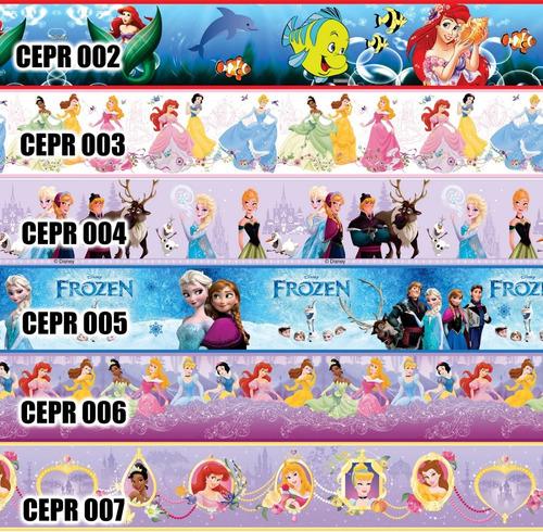 vinilos decorativo infantiles cenefa niñas princesas 1.48x12