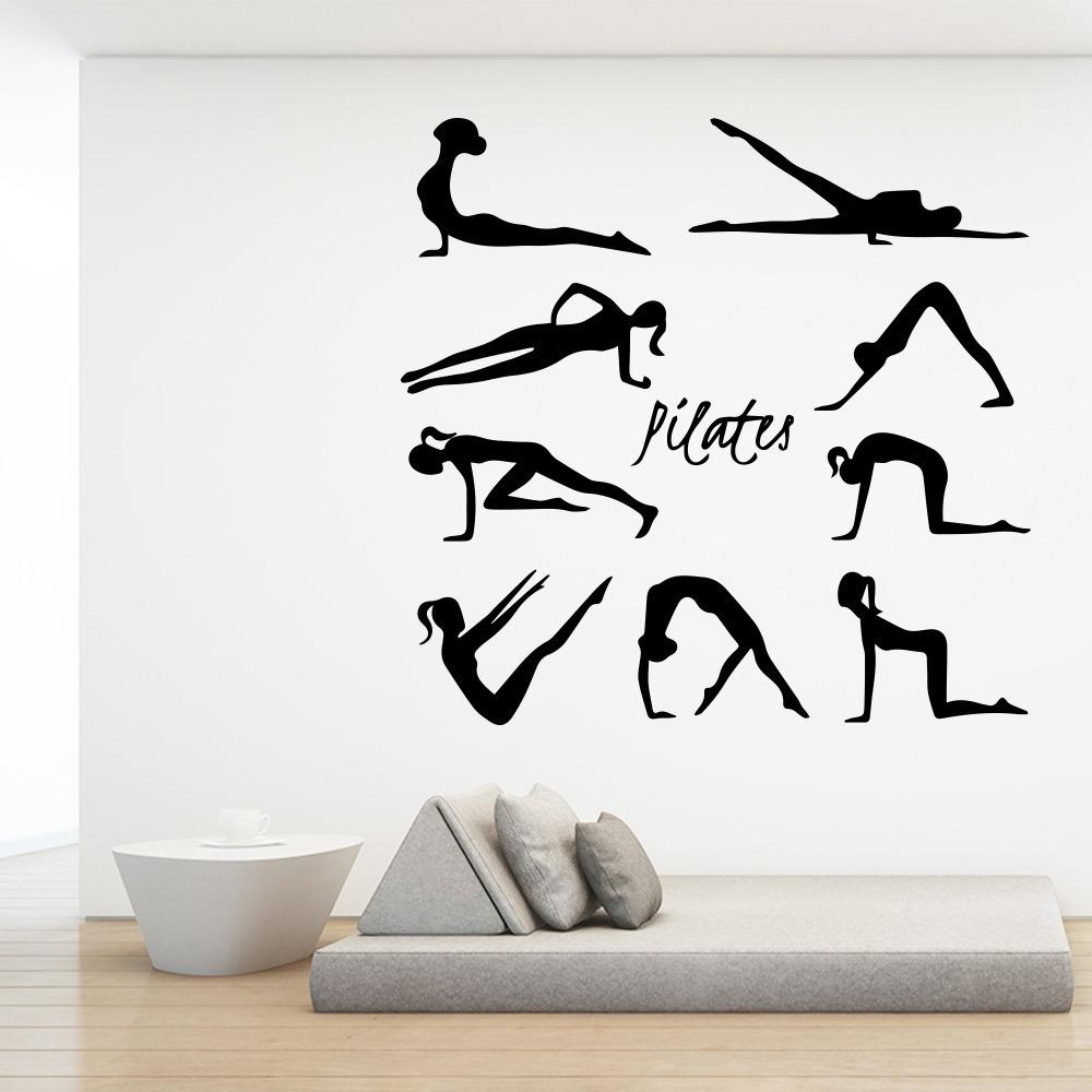 Vinilos Decorativo Pilates Gym Frases Clases Relax 60x200cm