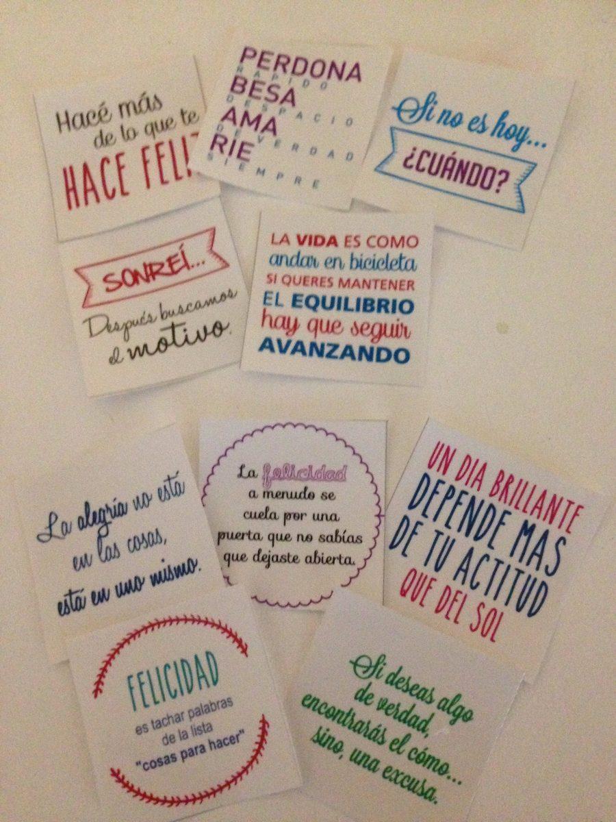 Vinilos Decorativos 10 Frases Motivacionales En Colores