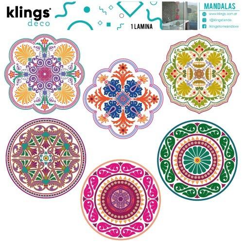 vinilos decorativos 6 mandalas transparentes