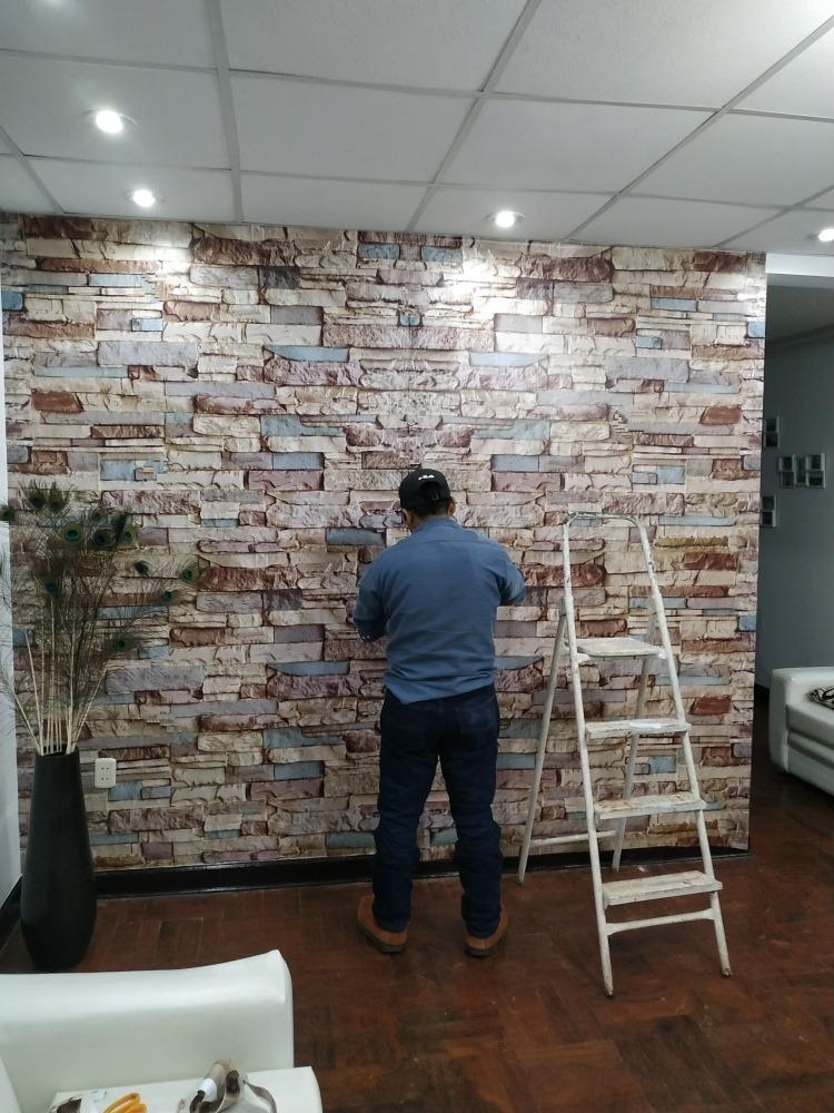 Vinilos decorativos adhesivo tapiz pared piedra ladrillo - Vinilo de pared decorativos ...