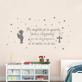 Vinilos Decorativos Angel De La Guarda Pared Bebes Niñ At S Hab