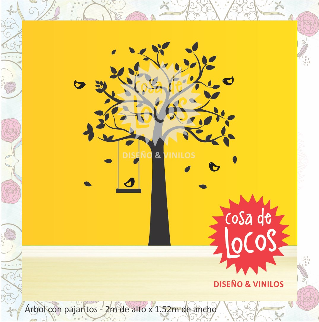 Vinilos Decorativos - Árbol Con Pájaros Para Paredes - Calco - $ 737 ...