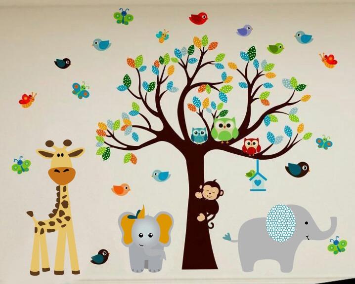 Vinilos decorativos arboles bebe infantiles cuartos bs - Vinilos arboles infantiles ...