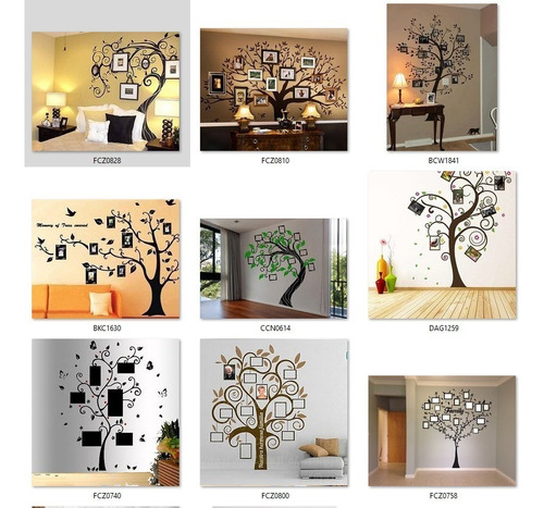 vinilos decorativos arboles genealogico - mapamundi