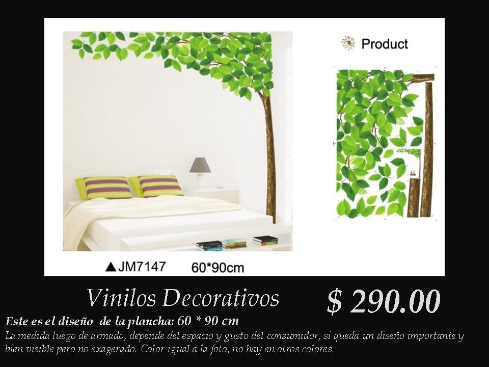 Vinilos decorativos arbusto con hojas verdes 290 00 en for Donde encontrar vinilos decorativos