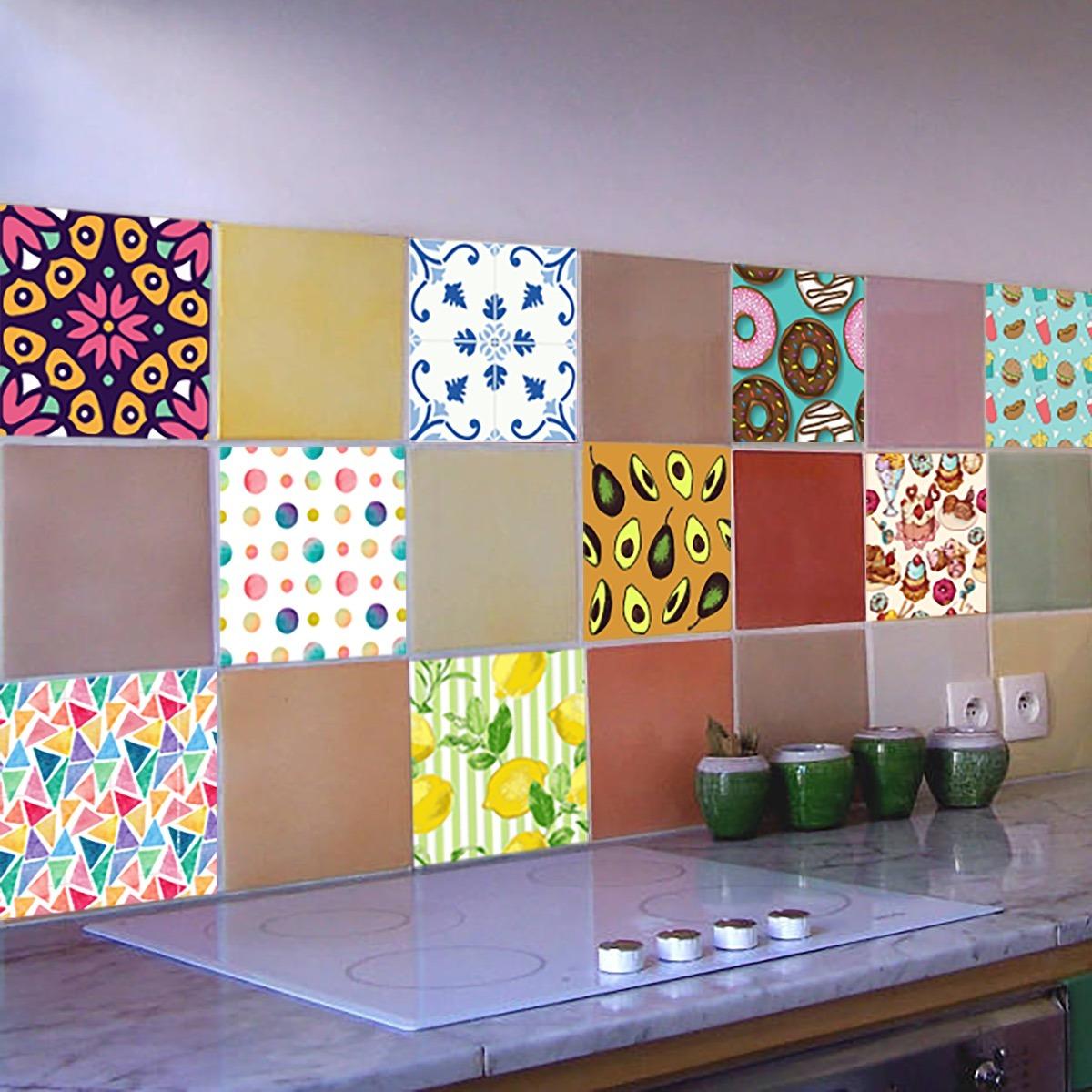 Azulejos decorativos para cocinas adhesivo decorativo for Azulejos decorativos cocina