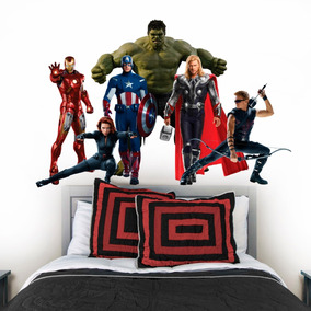 bf1f88b8 Vinilos Decorativos Avengers Superhéroes Calcomanías Pared 1