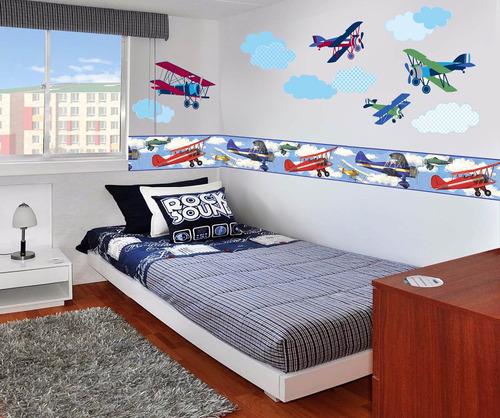 vinilos decorativos aviones,  transporte niños y bebes