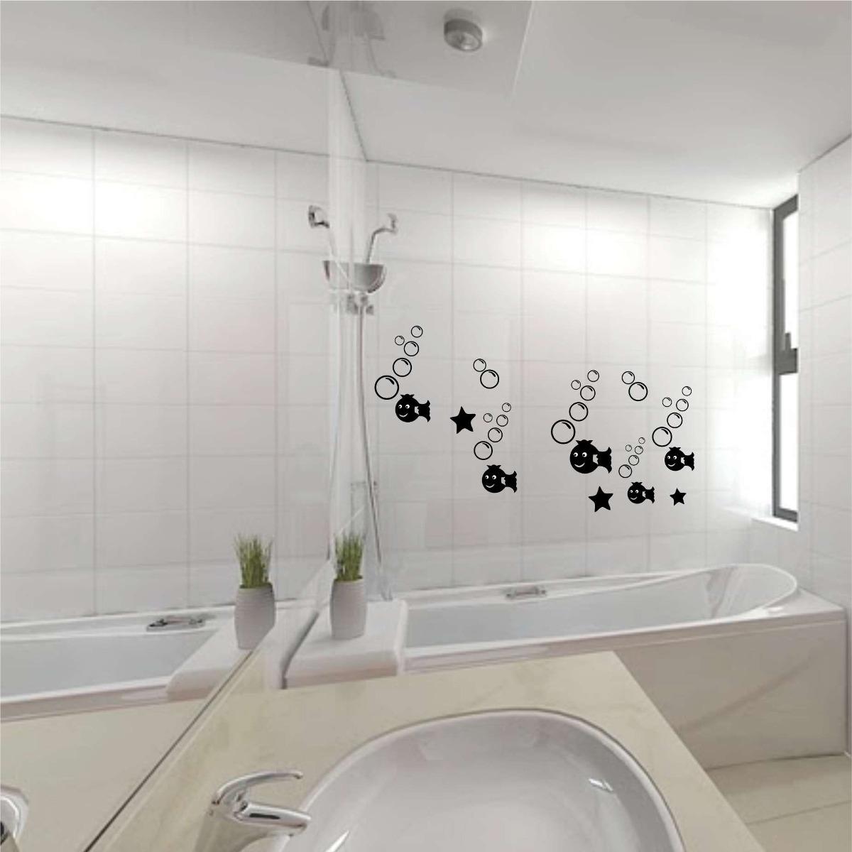Vinilos decorativos ba o oferta especial 590 for Vinilos para paredes de banos