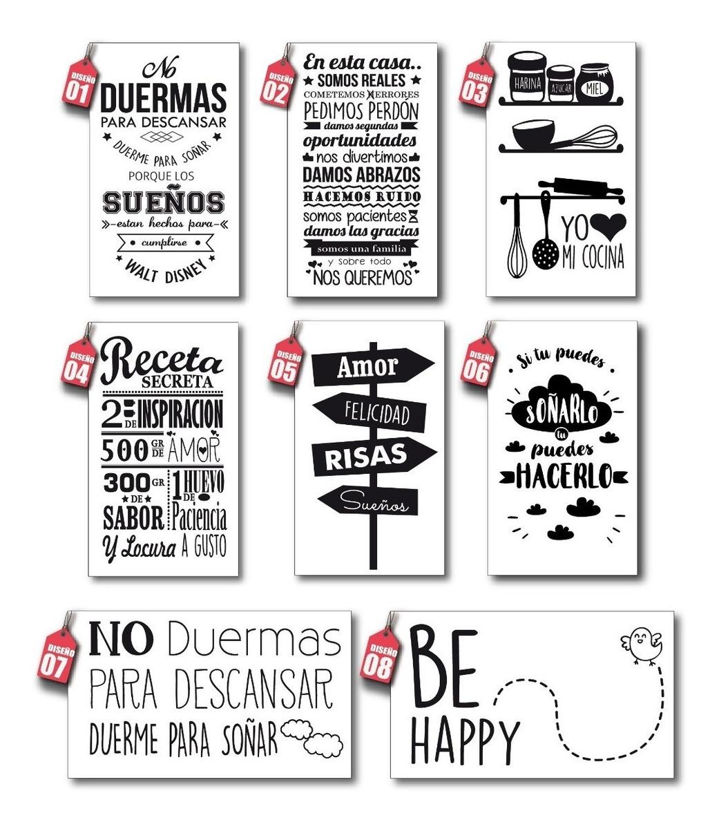 Vinilos Decorativos Be Happy Frases Puertas Pared