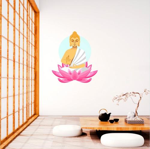 vinilos decorativos buda zen flor de loto yoga