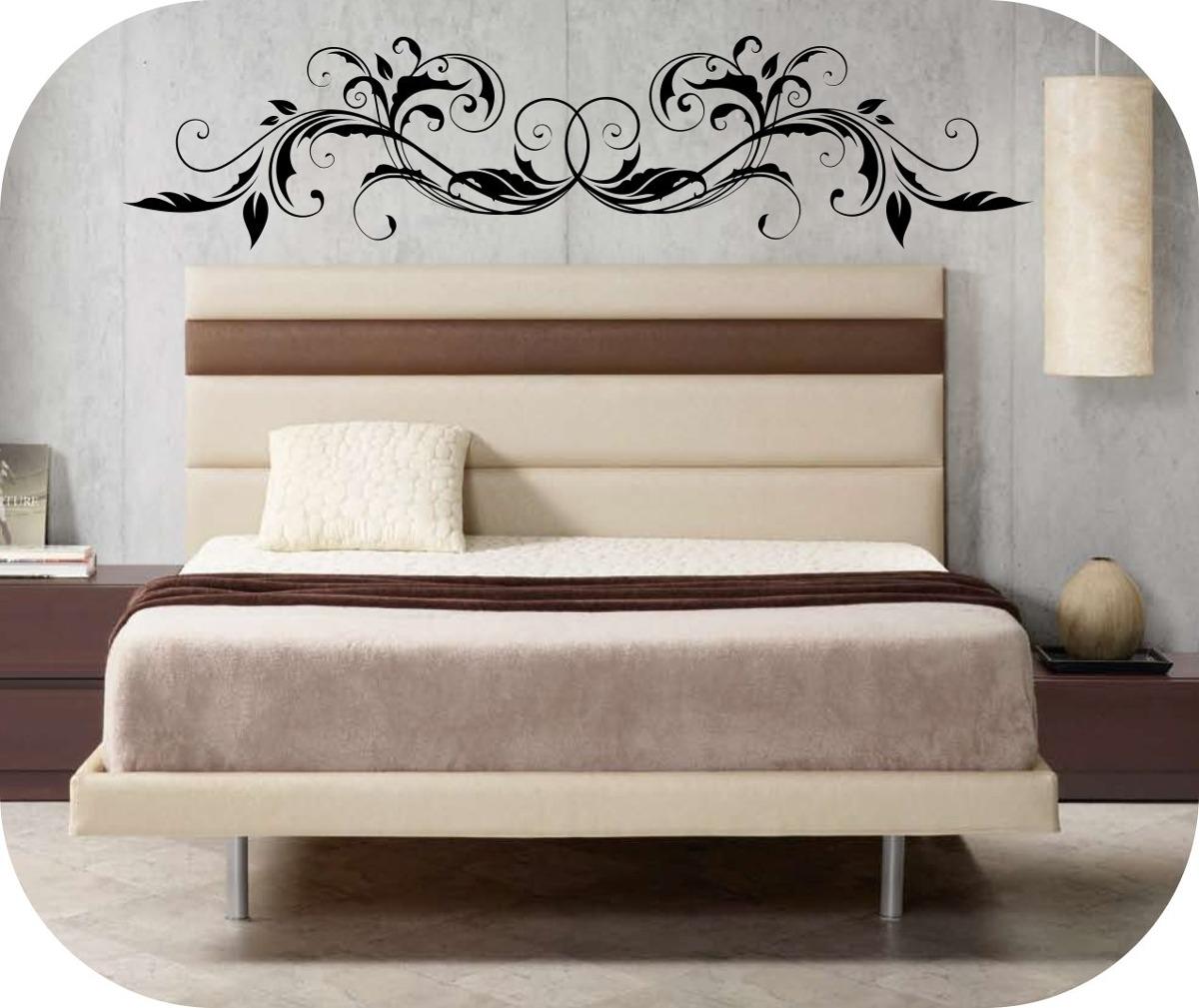 Vinilos decorativos cabeceros de camas decora tu pared for Vinilos cabeceros