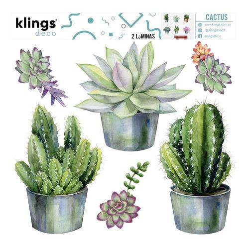 vinilos decorativos cactus suculentas plantas macetas