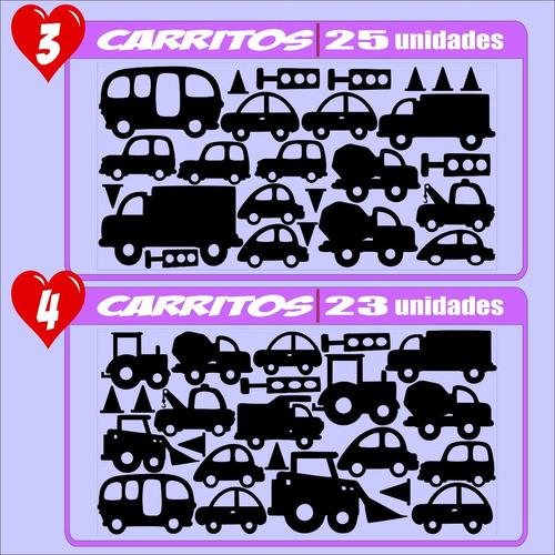 vinilos decorativos carritos  calcomanias sticker parede 30c