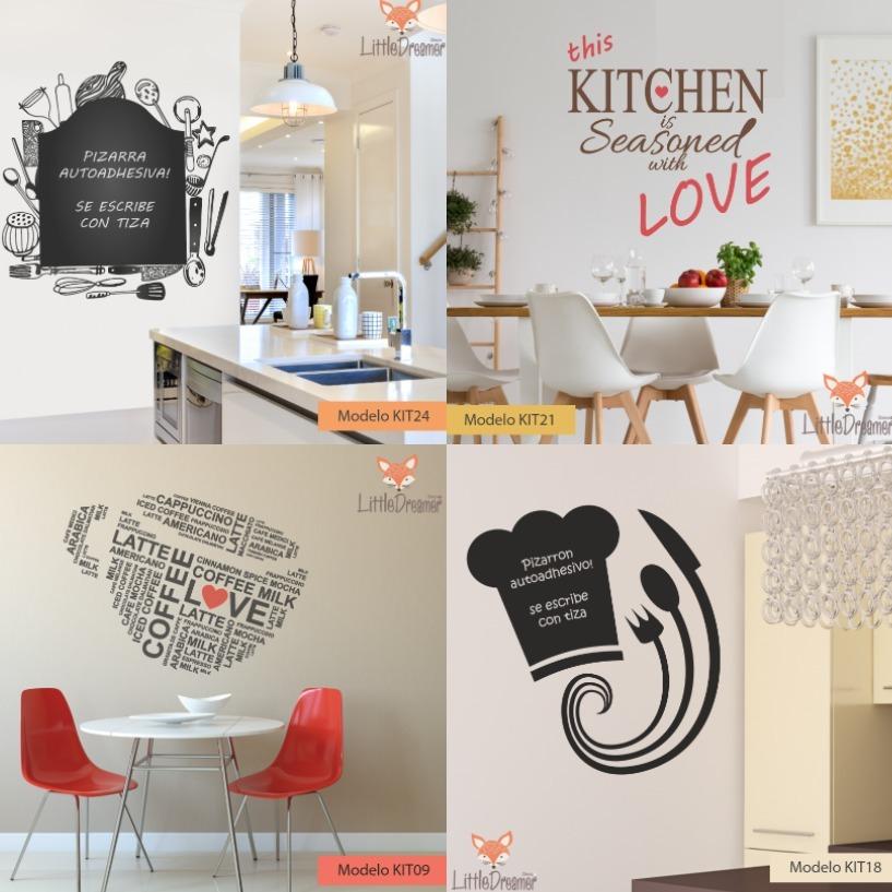 Vinilos Decorativos Cocina Comedor Living Pizarra - Medida A - $ 450 ...