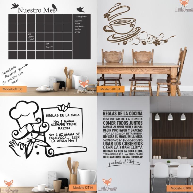 Vinilos Decorativos Cocina Comedor Living Pizarra - Medida B - $ 850 ...