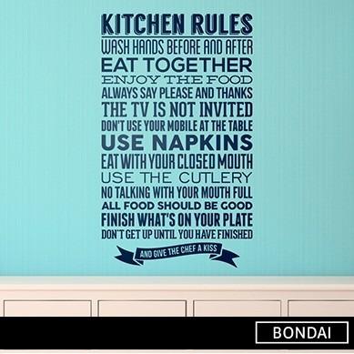 Vinilos Decorativos Cocina Frases Ingles Cocina Reglas Hogar
