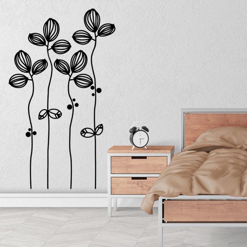 Vinilos Decorativos Comedor Flores Bouquet Lineas 52x87cm - $ 400,00 ...