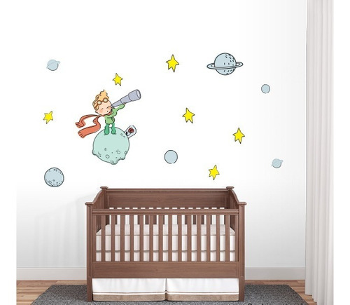 vinilos decorativos cuarto bebe el principito - 1m x 1m