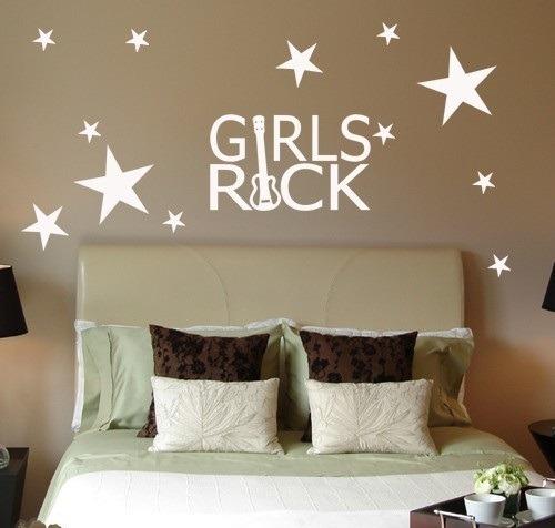 Vinilos decorativos cuarto de las j venes y adolescentes for Stickers decorativos para dormitorios