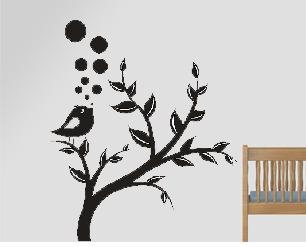 vinilos decorativos de pared, arbol corazones, mariposas
