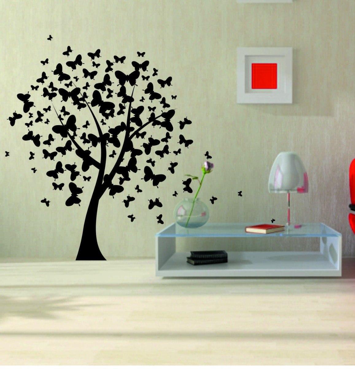Vinilos decorativos de pared arboles y florales regalo for Donde conseguir vinilos decorativos