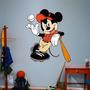Mickey Baseball Sticker Adhesivo Gigante Arteygraficadigital