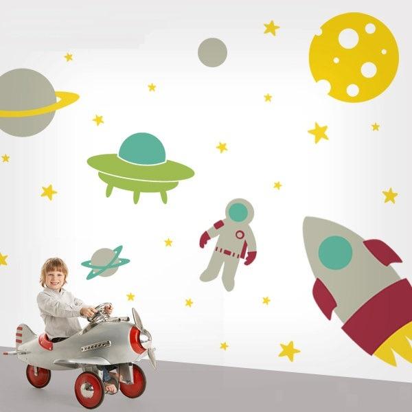 Vinilos decorativos espacio exterior naves espaciales for Donde encontrar vinilos decorativos