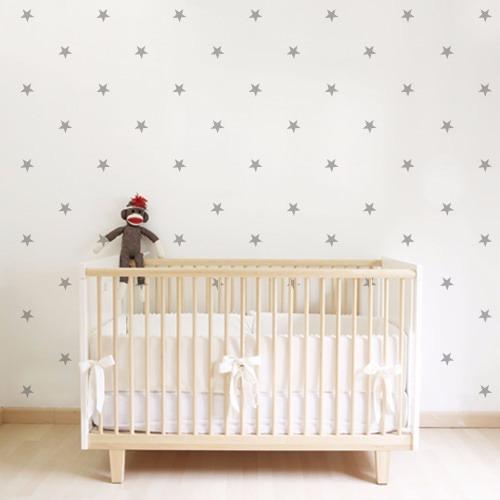 vinilos decorativos estrellas 8 cm x 100 unidades para pared