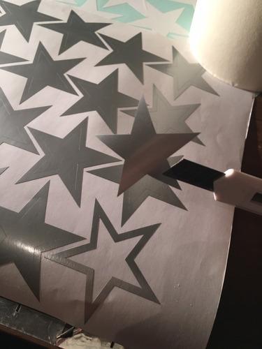 vinilos decorativos estrellas surtidas 8 cm x 100 unidades