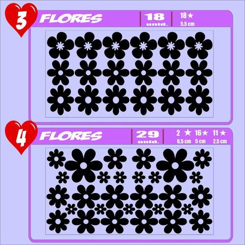 vinilos decorativos flores calcomanias  stickers  pared 30cm