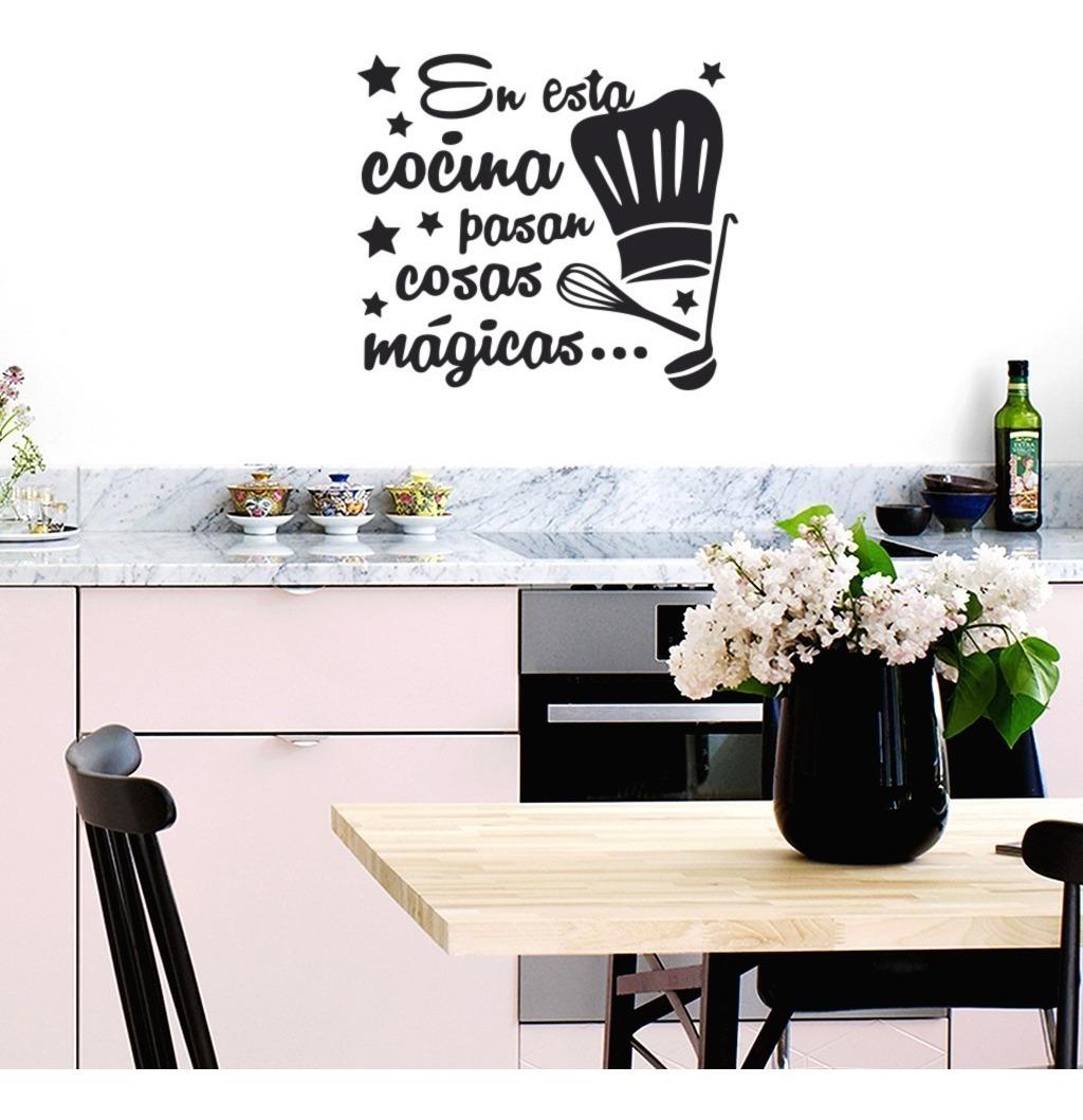 Vinilos Decorativos Frase Cocina