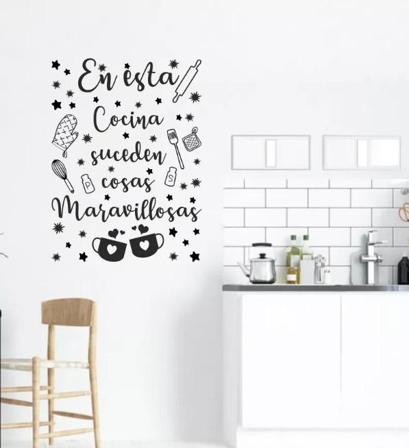 Vinilos Decorativos Frases Cocina Hogar Casa Varios Modelos