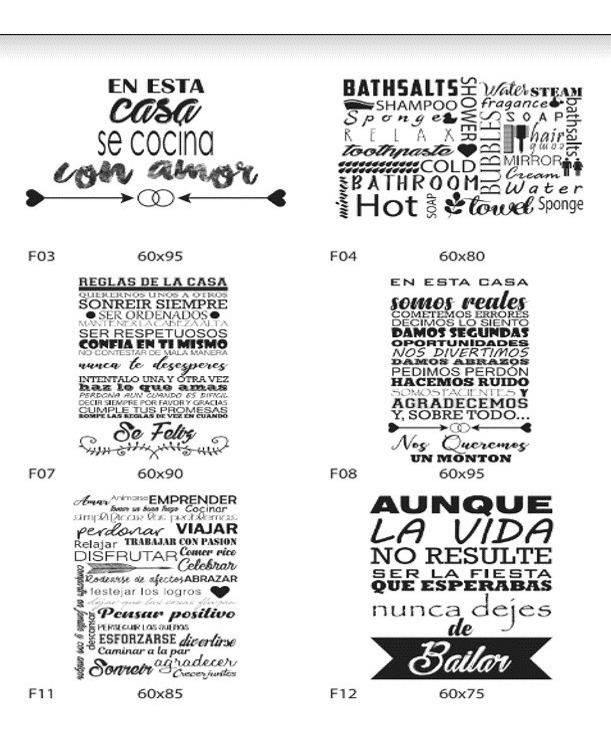 Vinilos Decorativos Frases Puertas Troquelado 100x140cm