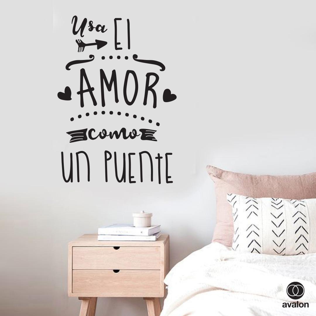 Vinilos Decorativos Frases Usa El Amor Como Un Puente Cerati