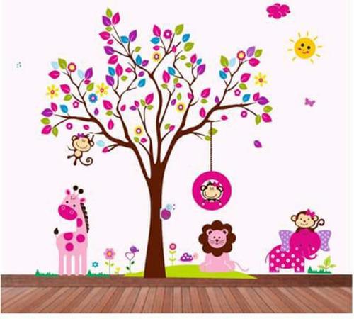 Vinilos decorativos grandes bebes cuartos infantiles cali for Vinilo habitacion bebe nina