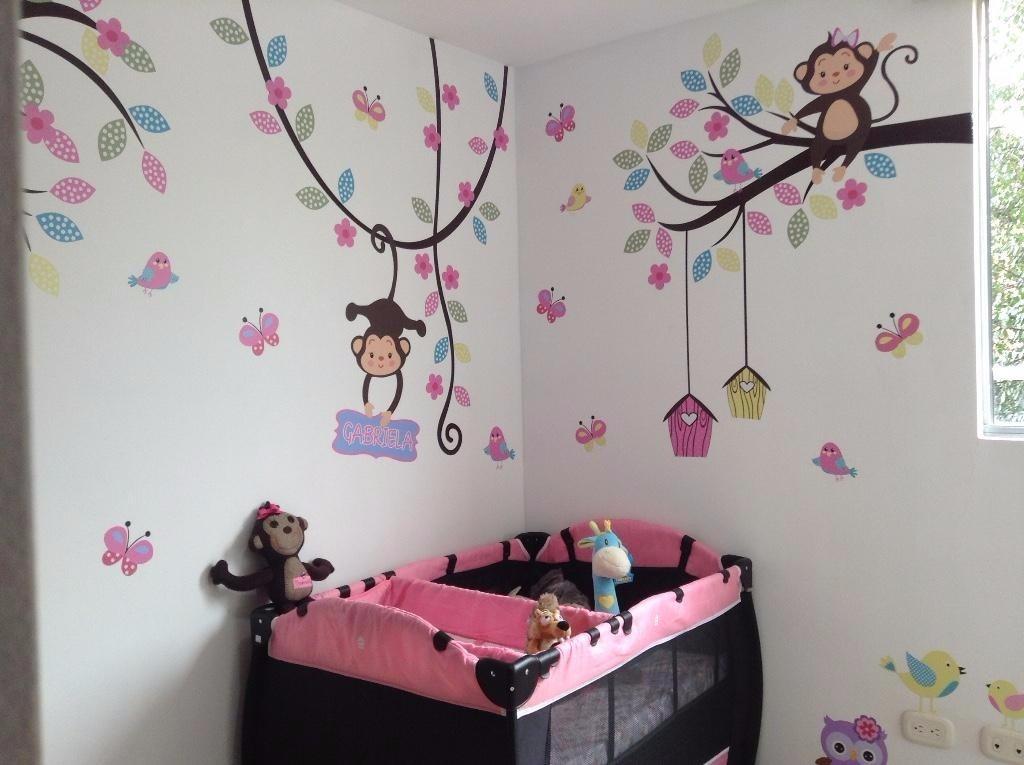 Vinilos decorativos grandes bebes cuartos infantiles cali - Vinilos infantiles pared gotele ...
