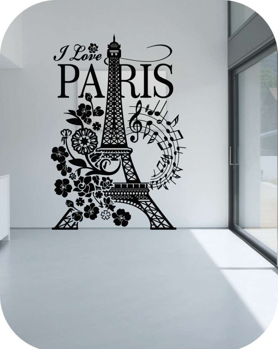 Vinilos Decorativos I Love Torre Eiffel Pequeño-paredes- - Bs ...