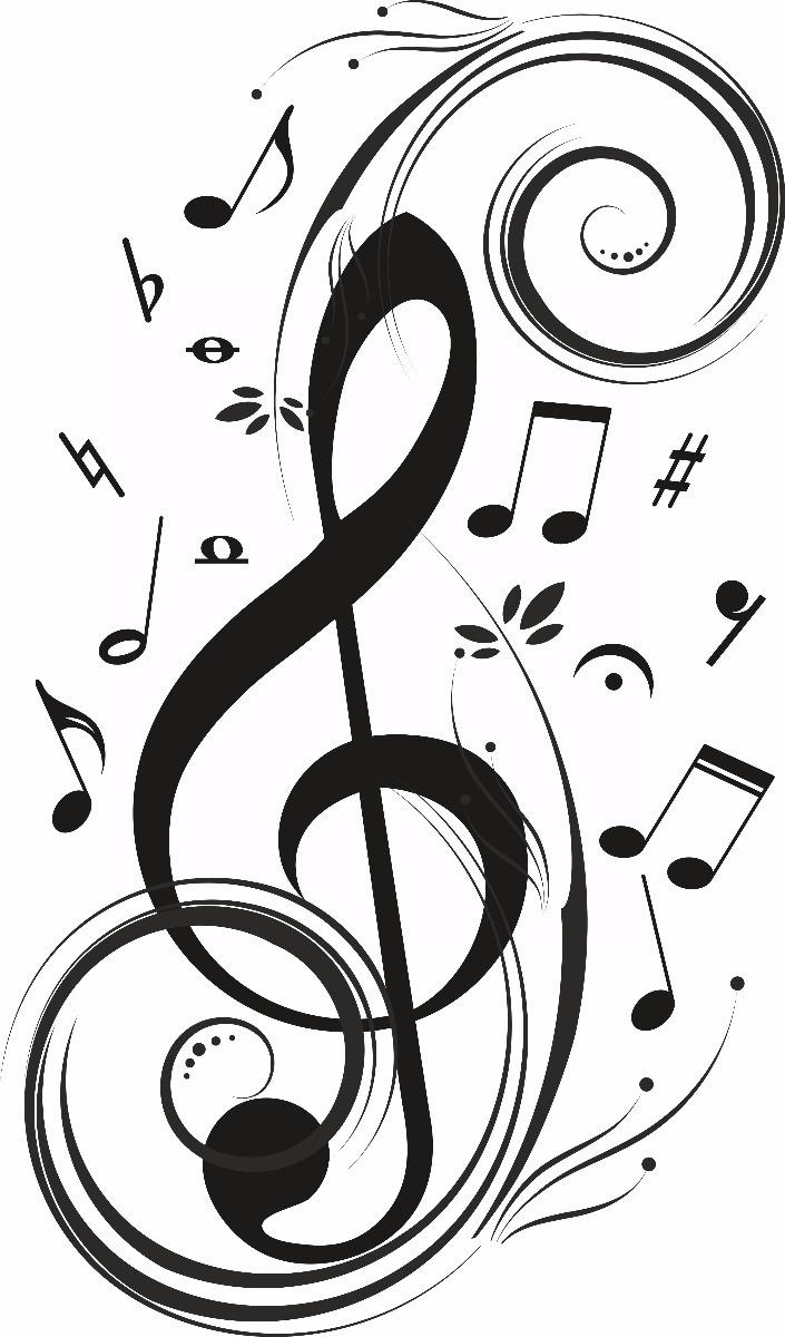 Vinilos Decorativos I Notas Musicales Clave De Sol 15000 En