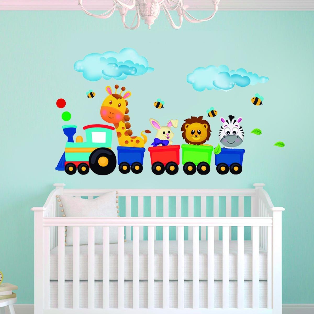Vinilos decorativos infantiles animales murales stiker ni os bs en mercado libre - Murales para ninas ...