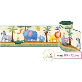 Vinilos Decorativos Infantiles Cenefa Safari Cinta 1.48mts