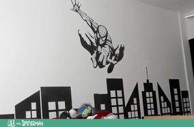 Vinilos Decorativos Infantiles Marvel Spiderman Hombre Araña