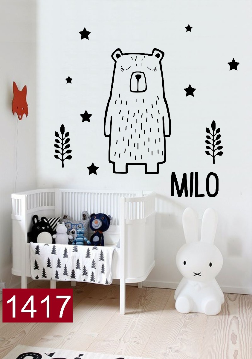 Vinilos De Moda.Vinilos Decorativos Infantiles Osito Unisex Nordico Oso Moda