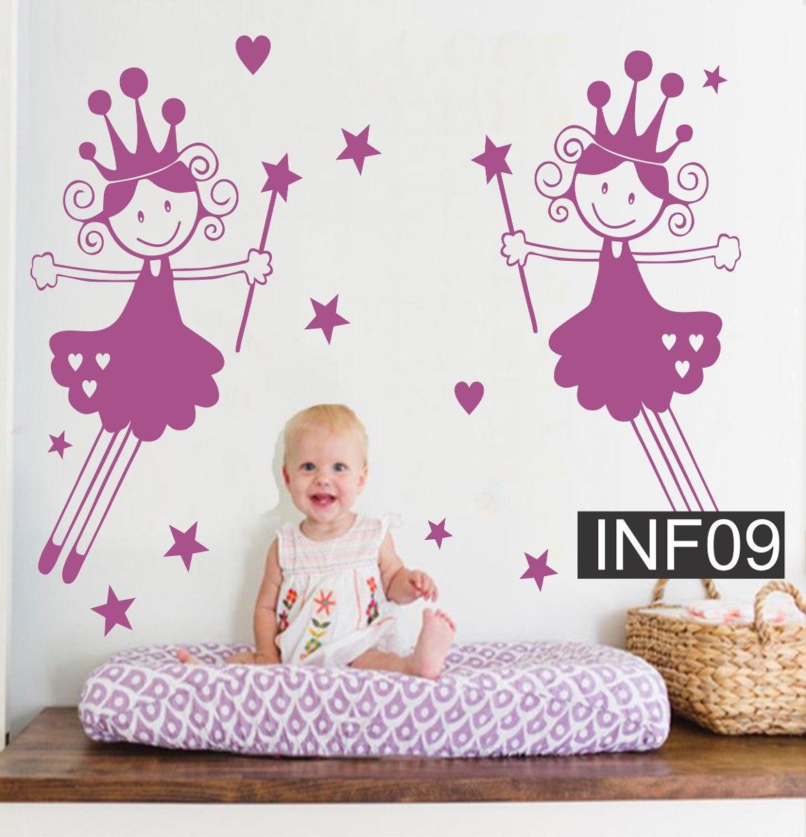 Hadas Vinilos Decorativos Infantiles.Vinilos Decorativos Infantiles Princesa Hada Para Bebe Nena